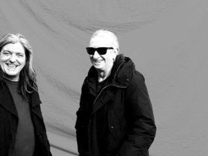 Rosendo con Boni en Bilbao preparados para grabrar el videoclip El Erizo